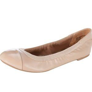 dexflex Comfort Nude Claire Scrunch Flats